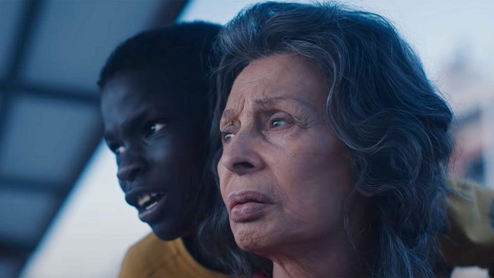 "Ibrahima Gueye and Sophia Loren in ""The Life Ahead."""