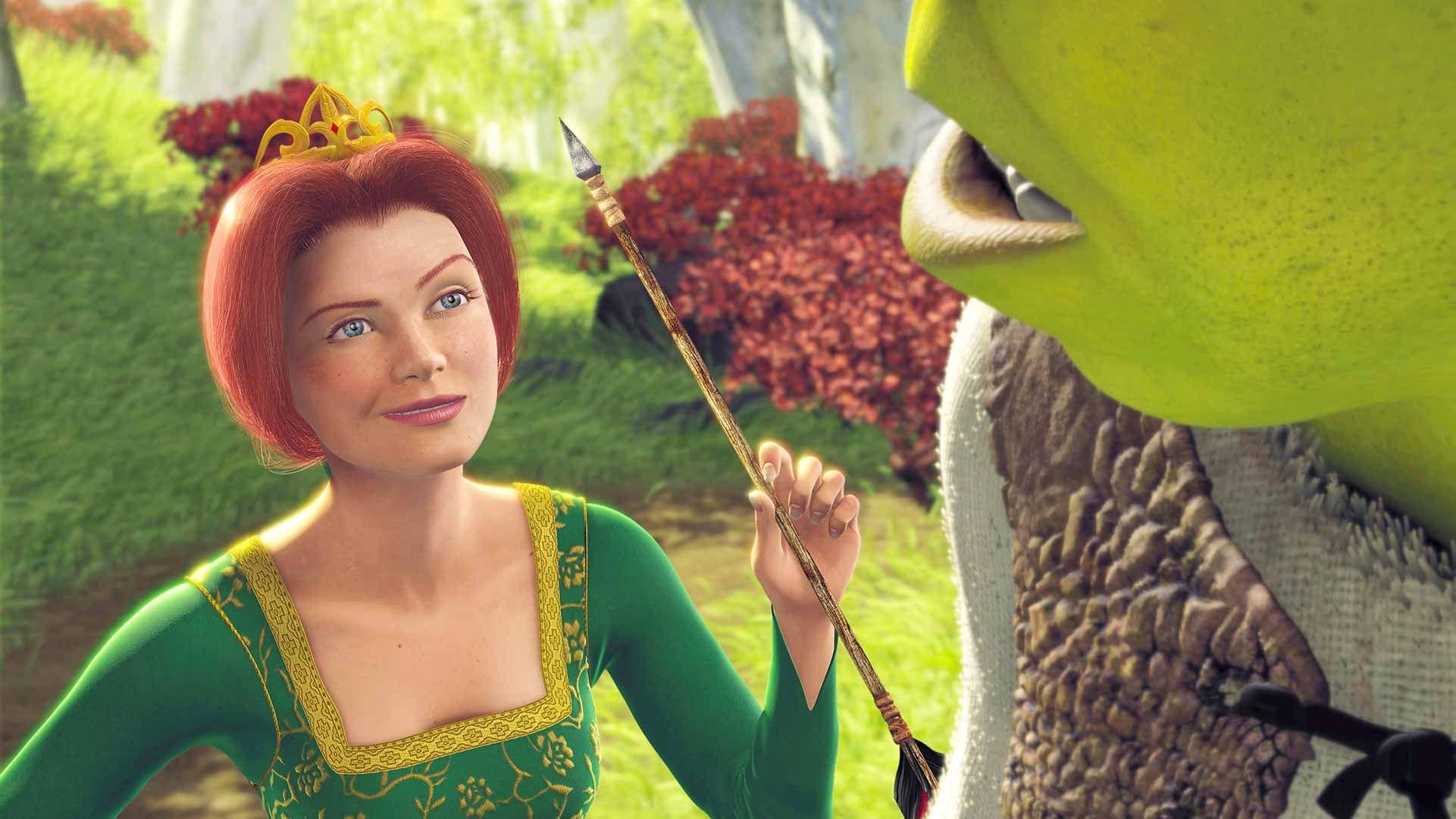 Princess Fiona and Shrek.