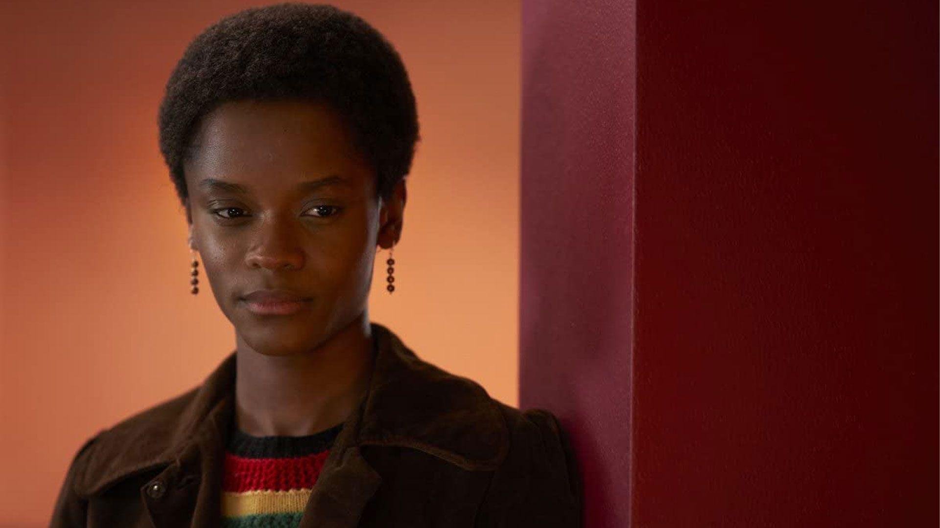 "Letitia Wright in ""Mangrove."""