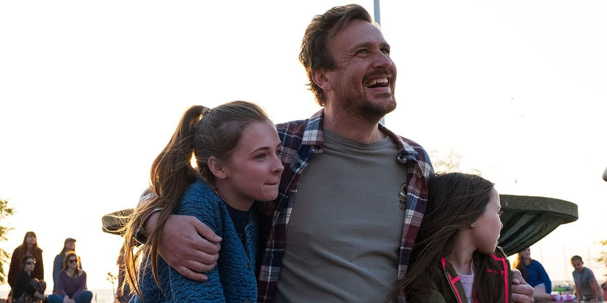 """Jason Segel, Isabella Kai, and Violet McGraw in """"Our Friend."""""""
