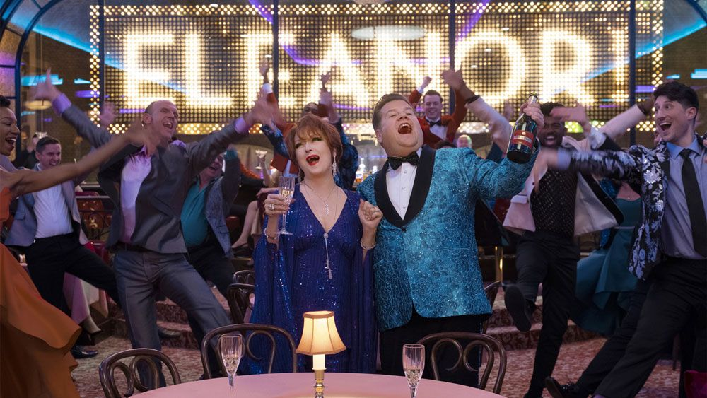 """Meryl Streep and James Corden in """"The Prom."""""""