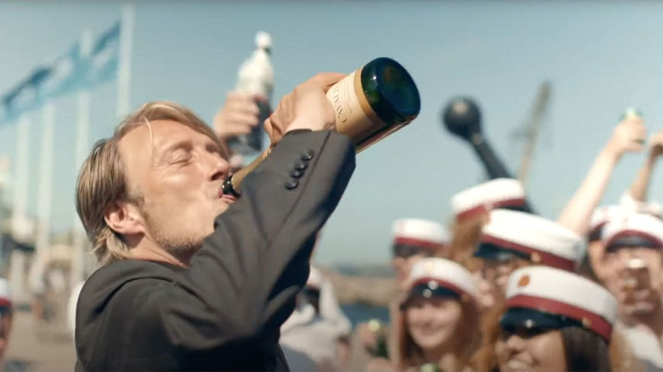 """Mads Mikkelsen in """"Another Round."""" © Samuel Goldwyn Films /Courtesy Everett Collection"""