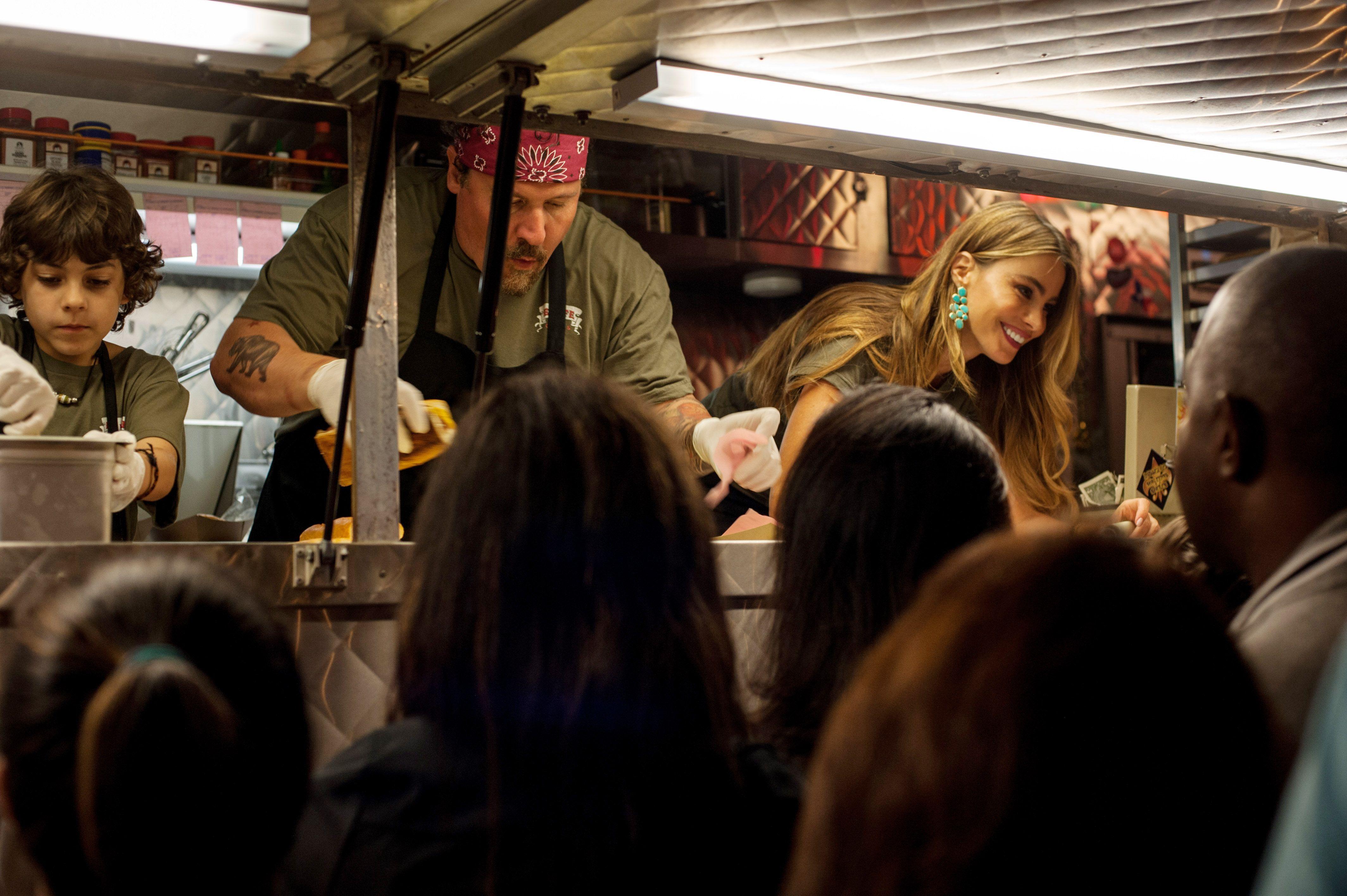 """Emjay Anthony, Jon Favreau, Sofia Vergara in """"Chef."""""""