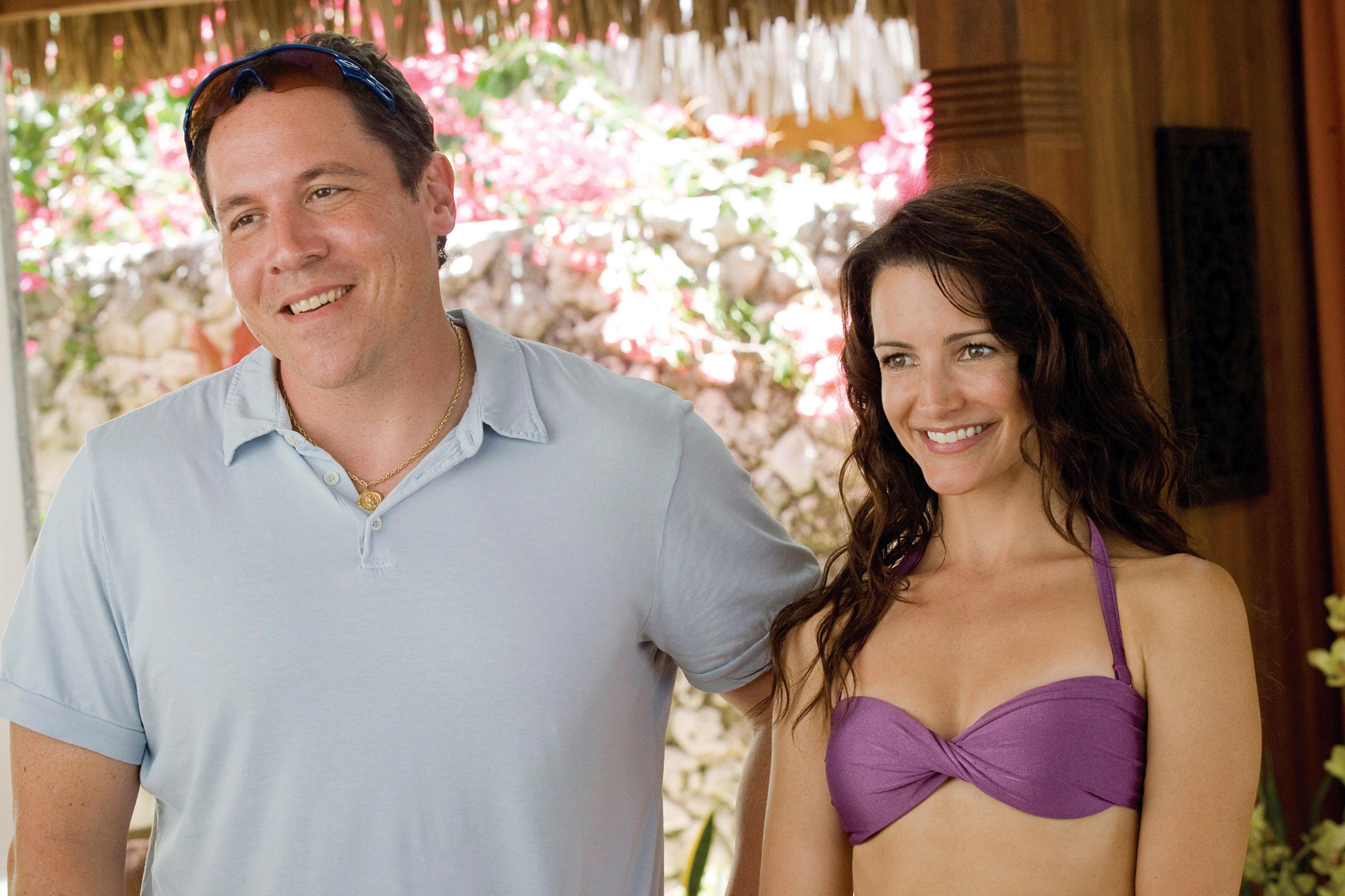 "Jon Favreau, Kristin Davis in ""Couples Retreat."""