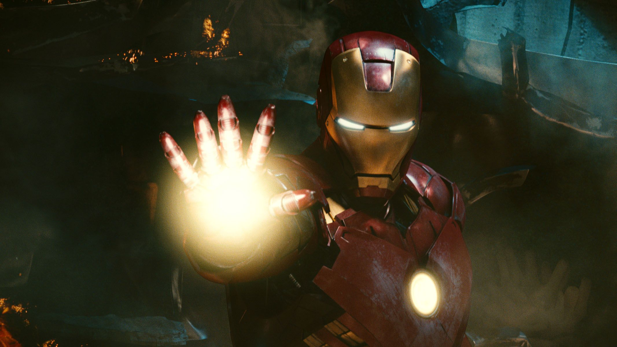 "Robert Downey Jr. in ""Iron Man 2."""
