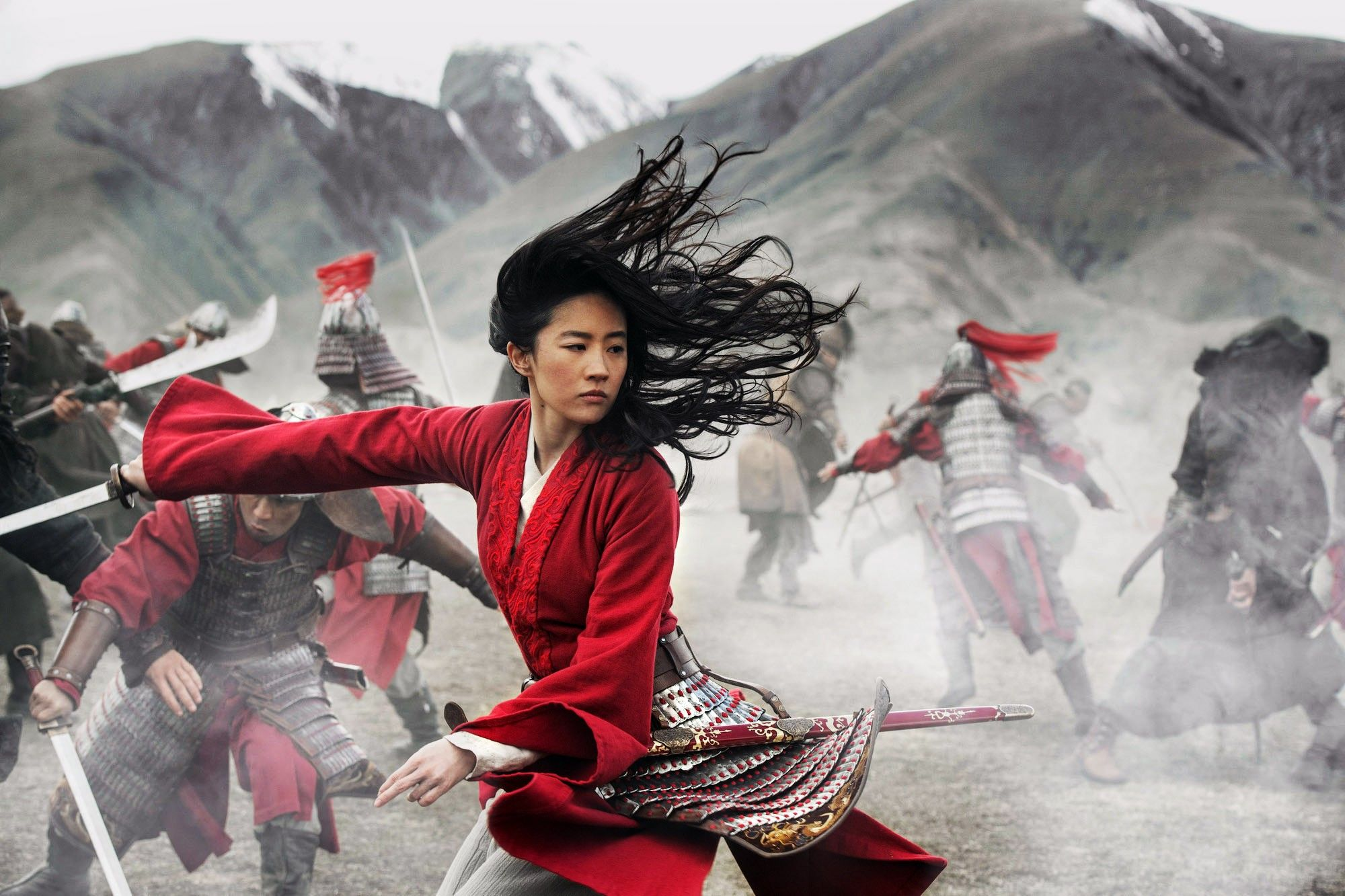 "Liu Yifei in ""Mulan (2020)."""