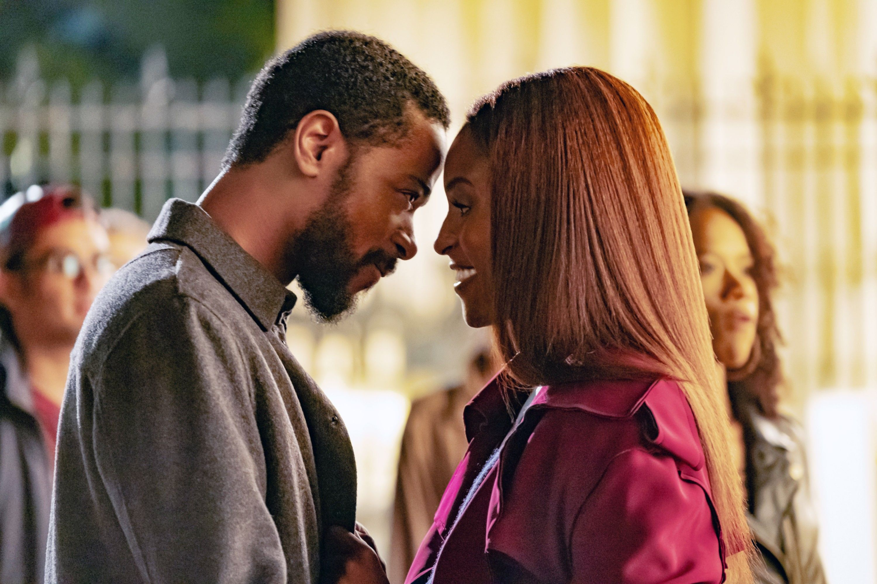 """LaKeith Stanfield and Issa Rae in """"The Photograph."""""""
