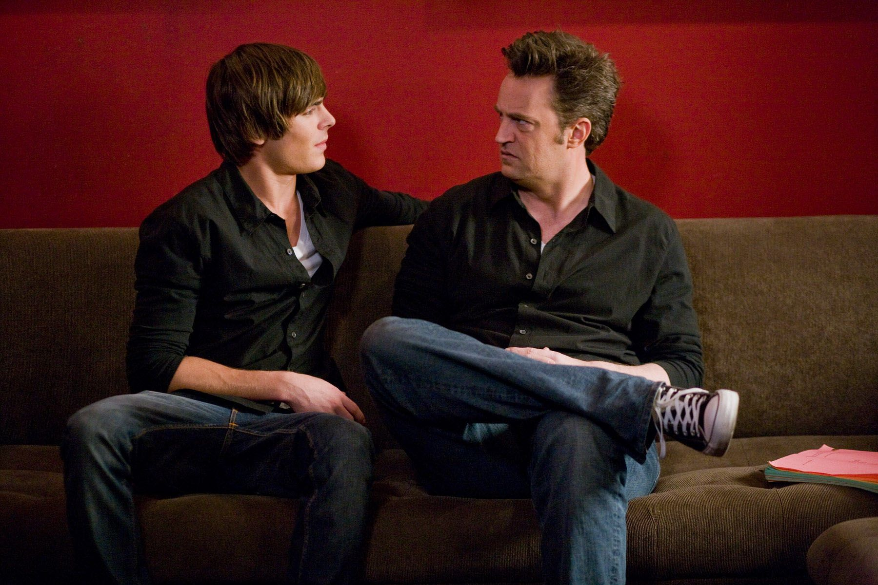 """Zac Efron and Matthew Perry in """"17 Again."""""""