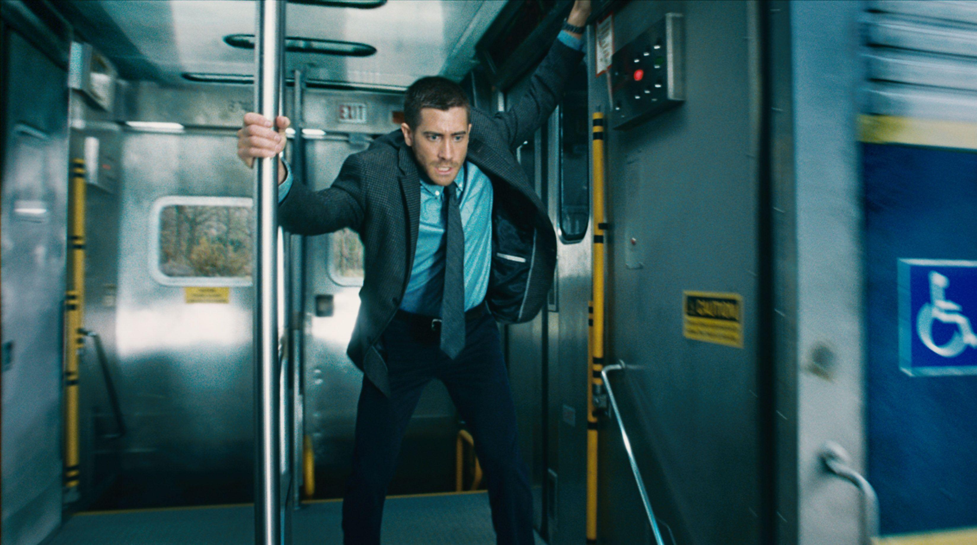 "Jake Gyllenhaal in ""Source Code."""