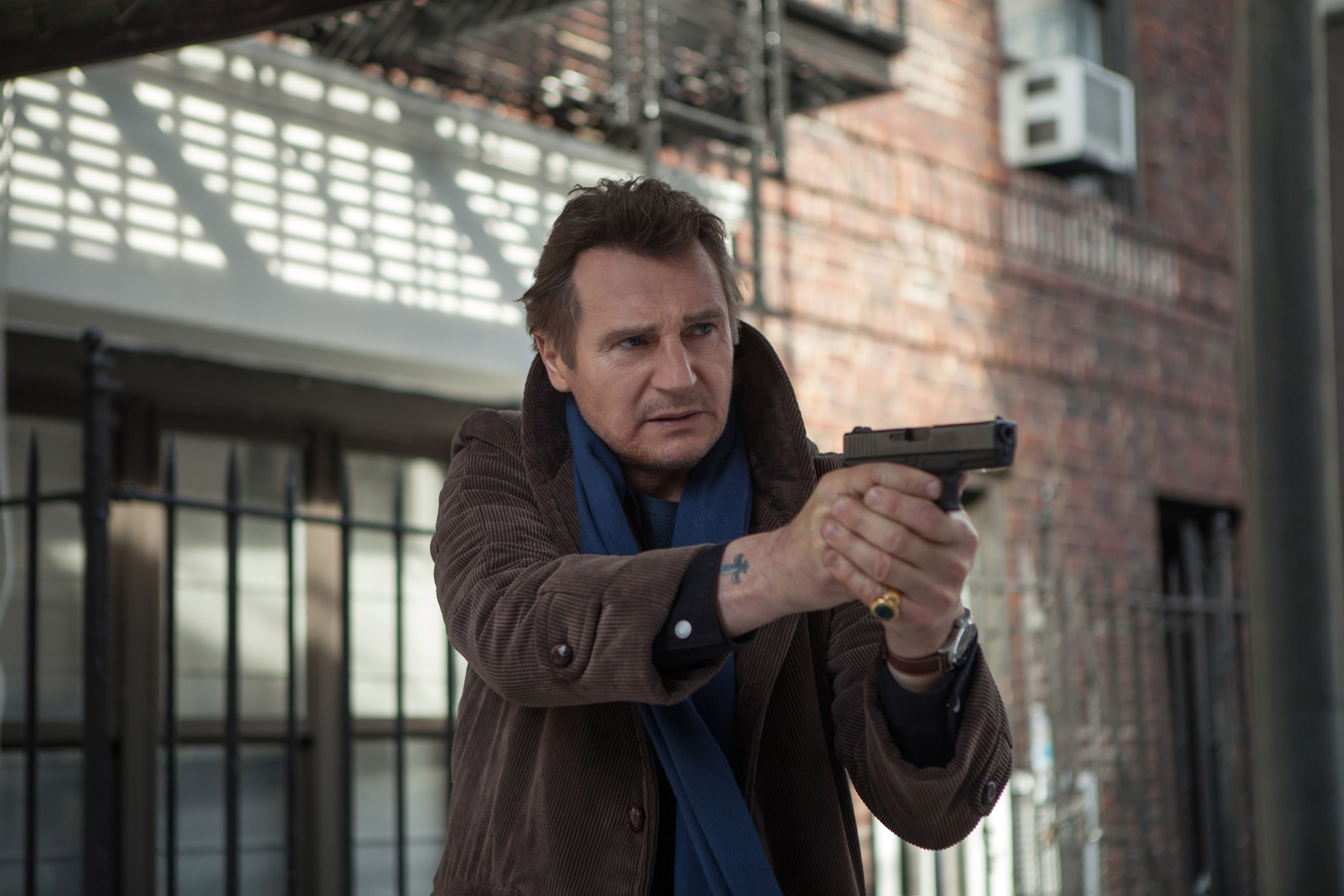 """Liam Neeson in """"A Walk Among the Tombstones."""""""