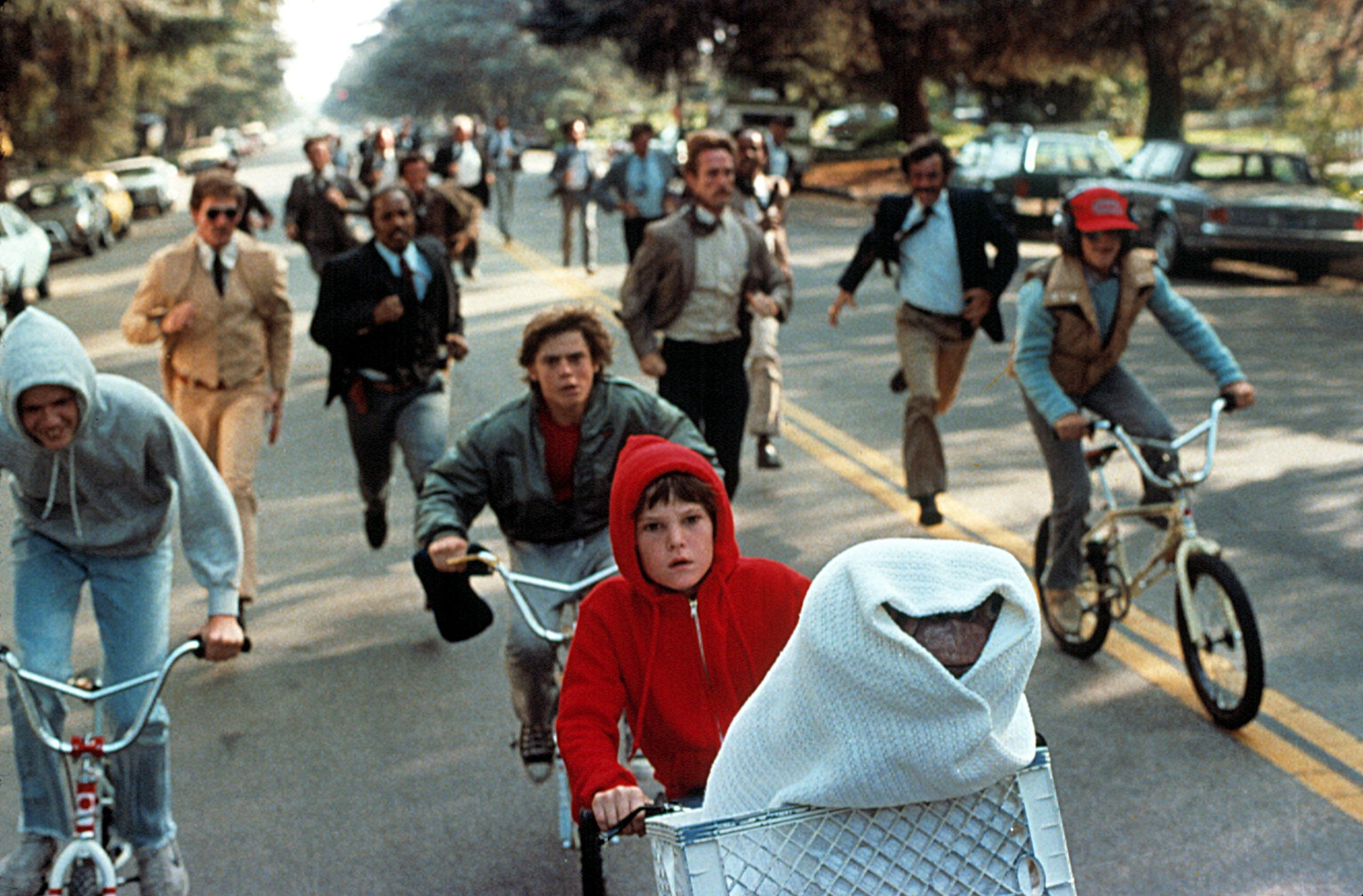 """A scene from """"E.T. the Extra-Terrestrial."""""""