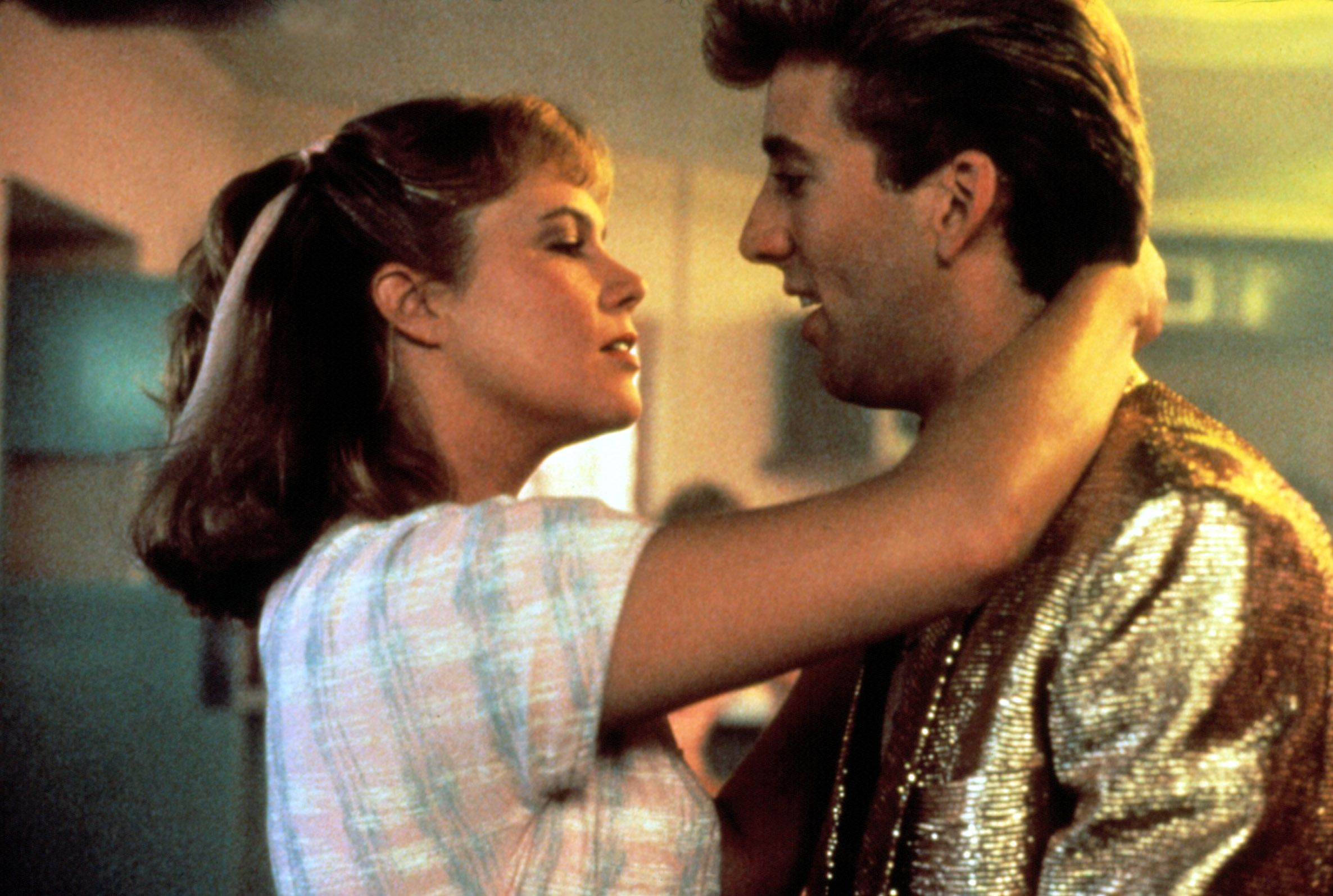"""Kathleen Turner, Nicolas Cage in """"Peggy Sue Got Married."""""""