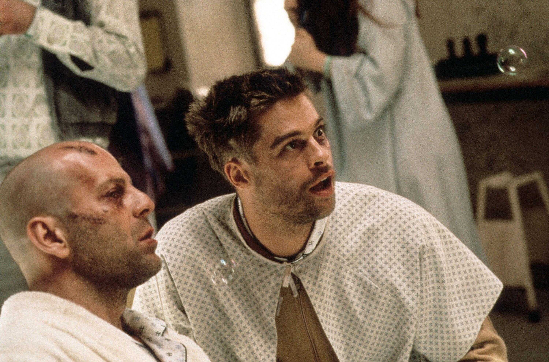 """Bruce Willis, Brad Pitt in """"12 Monkeys."""""""