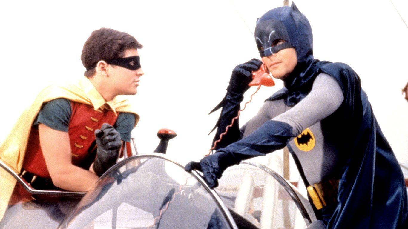 """Burt Ward, Adam West in """"Batman (1966)."""""""