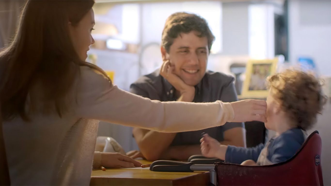 """Ady Barkan with his wife Rachael King and their son Carl in """"Not Going Quietly."""""""