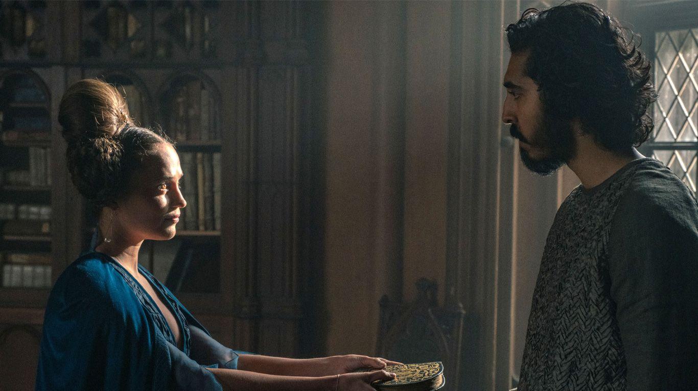 """Alicia Vikander and Dev Patel in """"The Green Knight."""""""