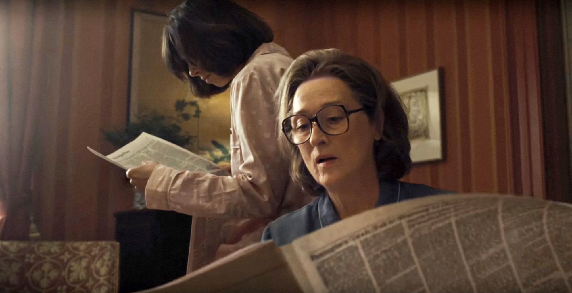 """Alison Brie and Meryl Streep in """"The Post."""""""