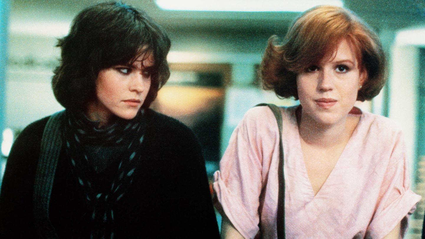 """Ally Sheedy and Molly Ringwald in """"The Breakfast Club"""""""