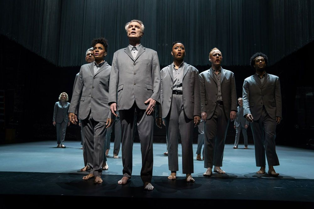 """David Byrne and company in """"American Utopia."""""""