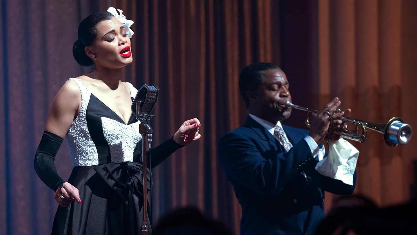 """Andra Day and Kevin Hanchard in """"The United States vs. Billie Holiday."""""""