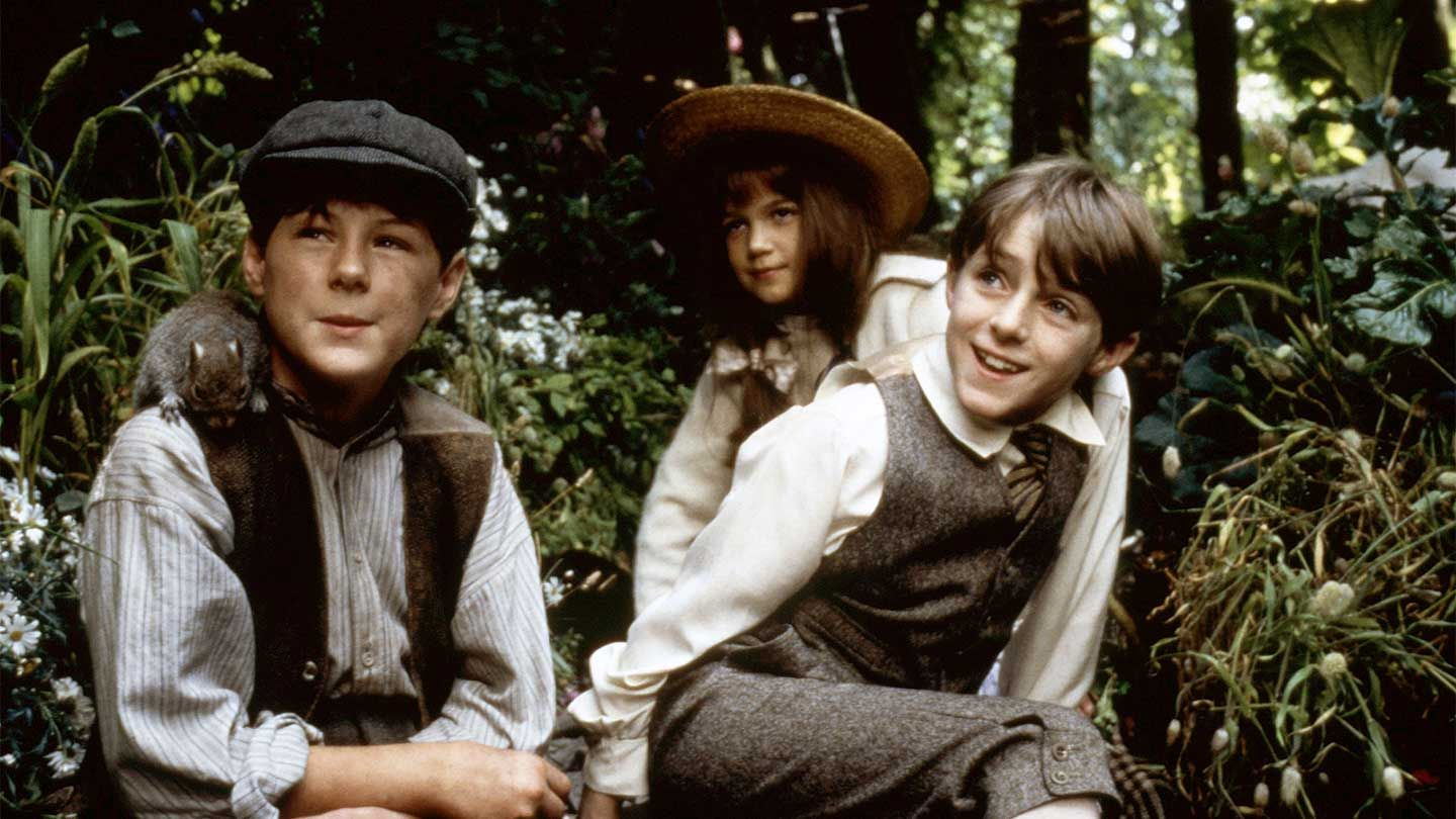 """Andrew Knott, Kate Maberly, and Heydon Prowse in """"The Secret Garden."""""""