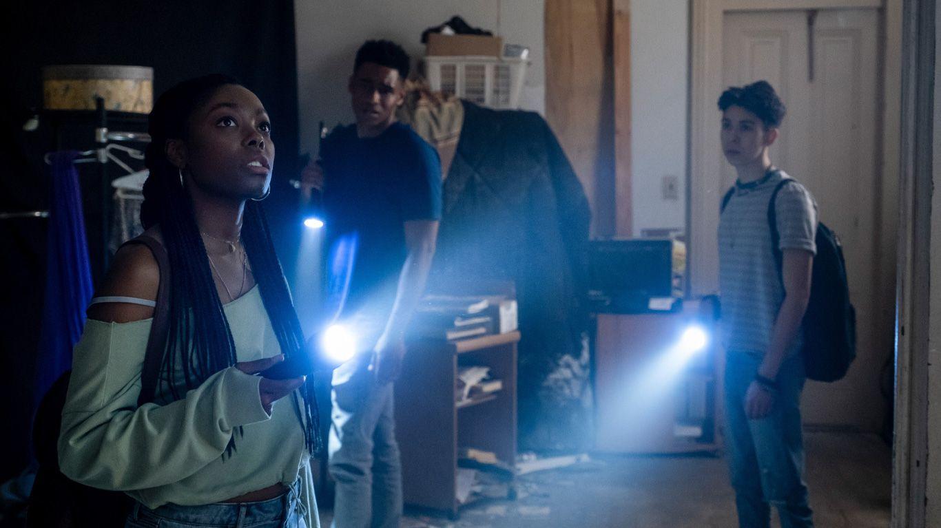 "Asjha Cooper, Mason Beauchamp, and Fabrizio Guido in ""Black as Night."""