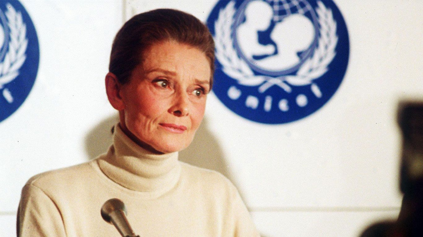 "Archive footage of Audrey Hepburn in ""Audrey."""