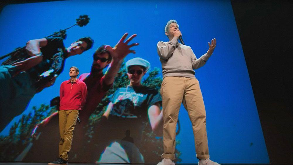"""Mike Diamond and Adam Horovitz in """"Beastie Boys Story."""""""