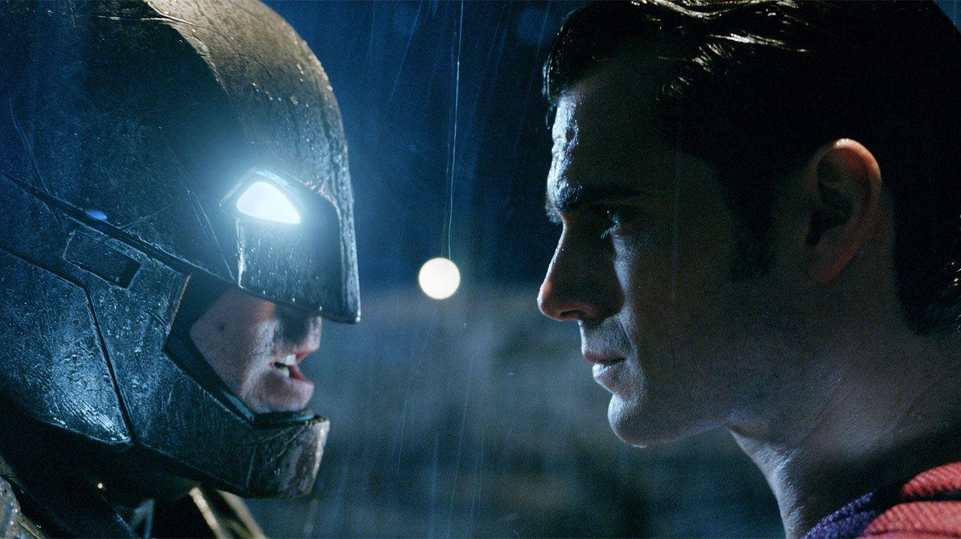 "Ben Affleck as Batman, Henry Cavill as Superman in ""Batman v Superman: Dawn of Justice."""