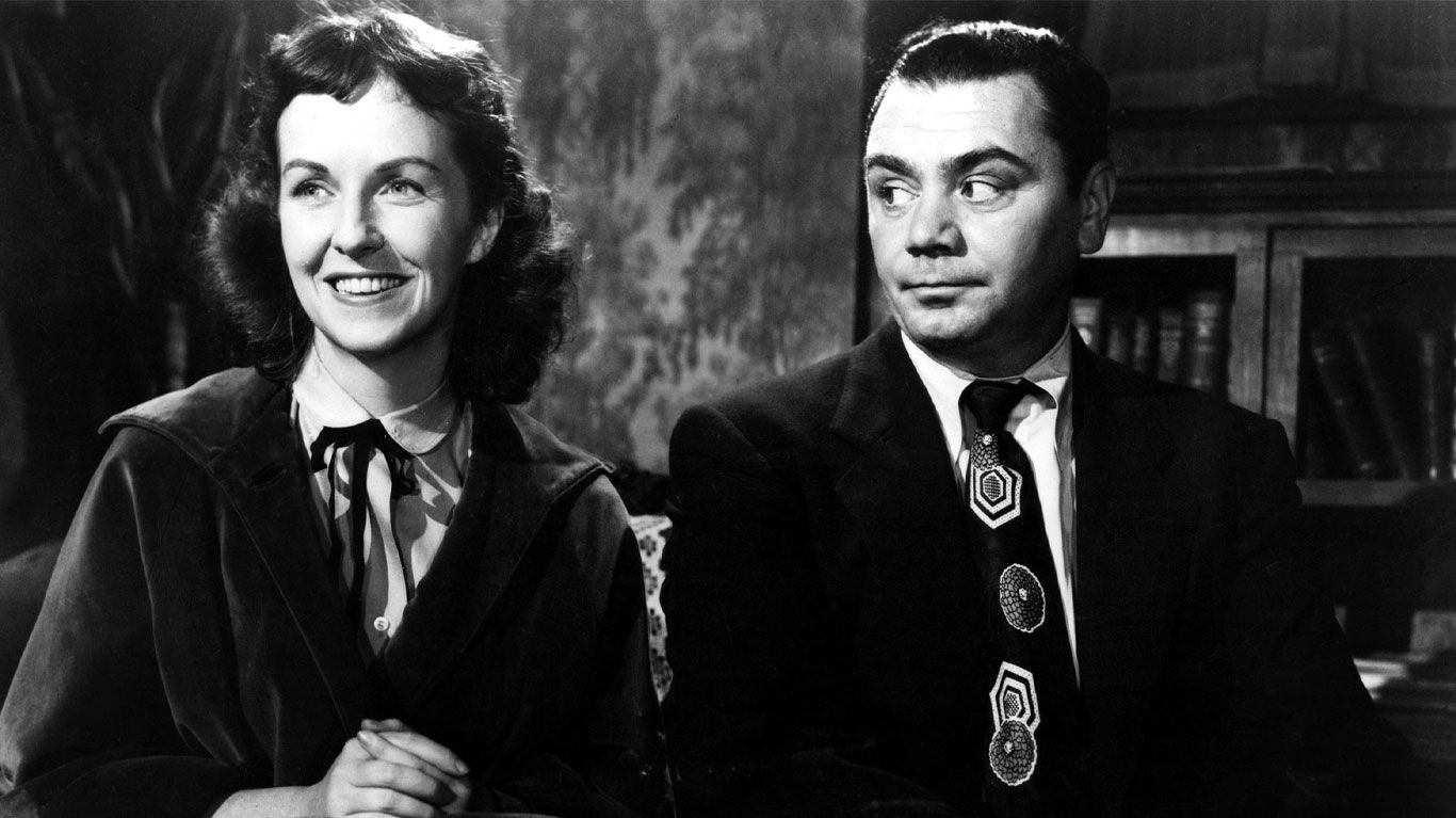 """Betsy Blair and Ernest Borgnine in """"Marty."""""""