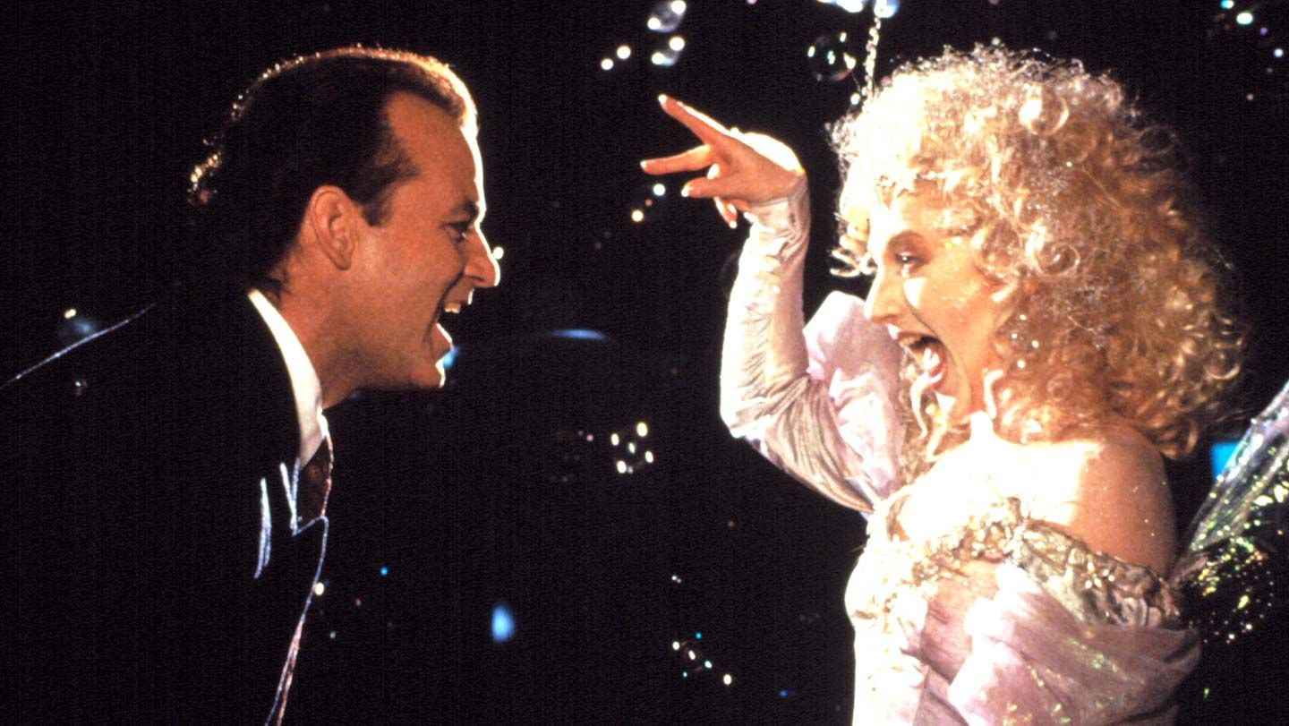 """Bill Murray and Carol Kane in """"Scrooged."""""""