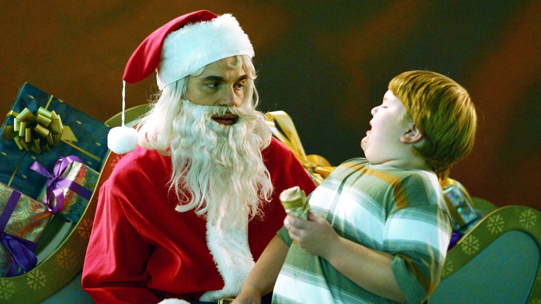 "Billy Bob Thornton and Brett Kelly in ""Bad Santa."""