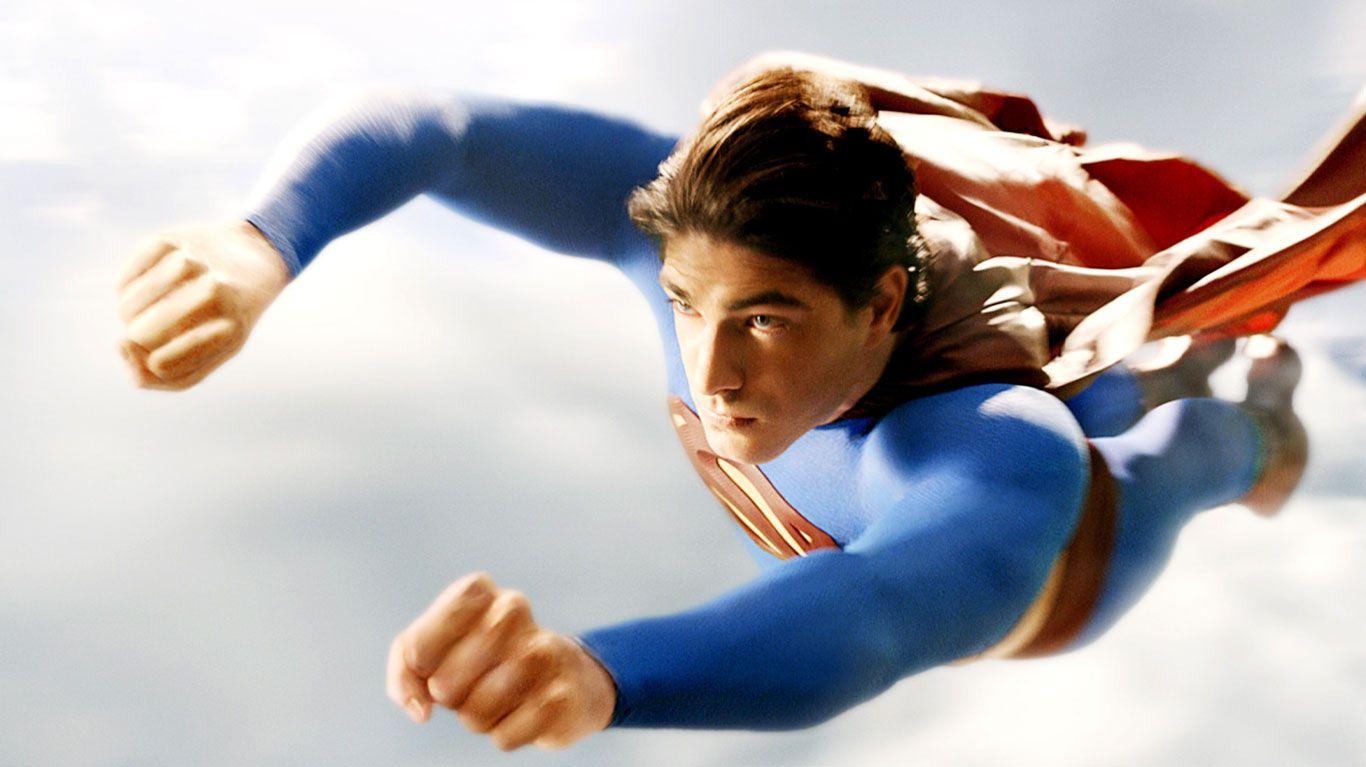 "Brandon Routh in ""Superman Returns."""