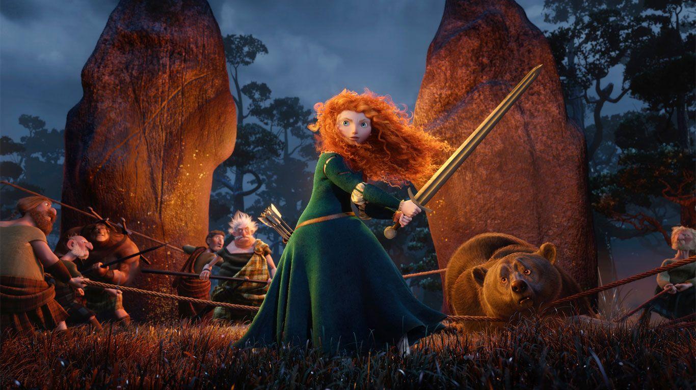"Merida (voice: Kelly Macdonald) in ""Brave."""