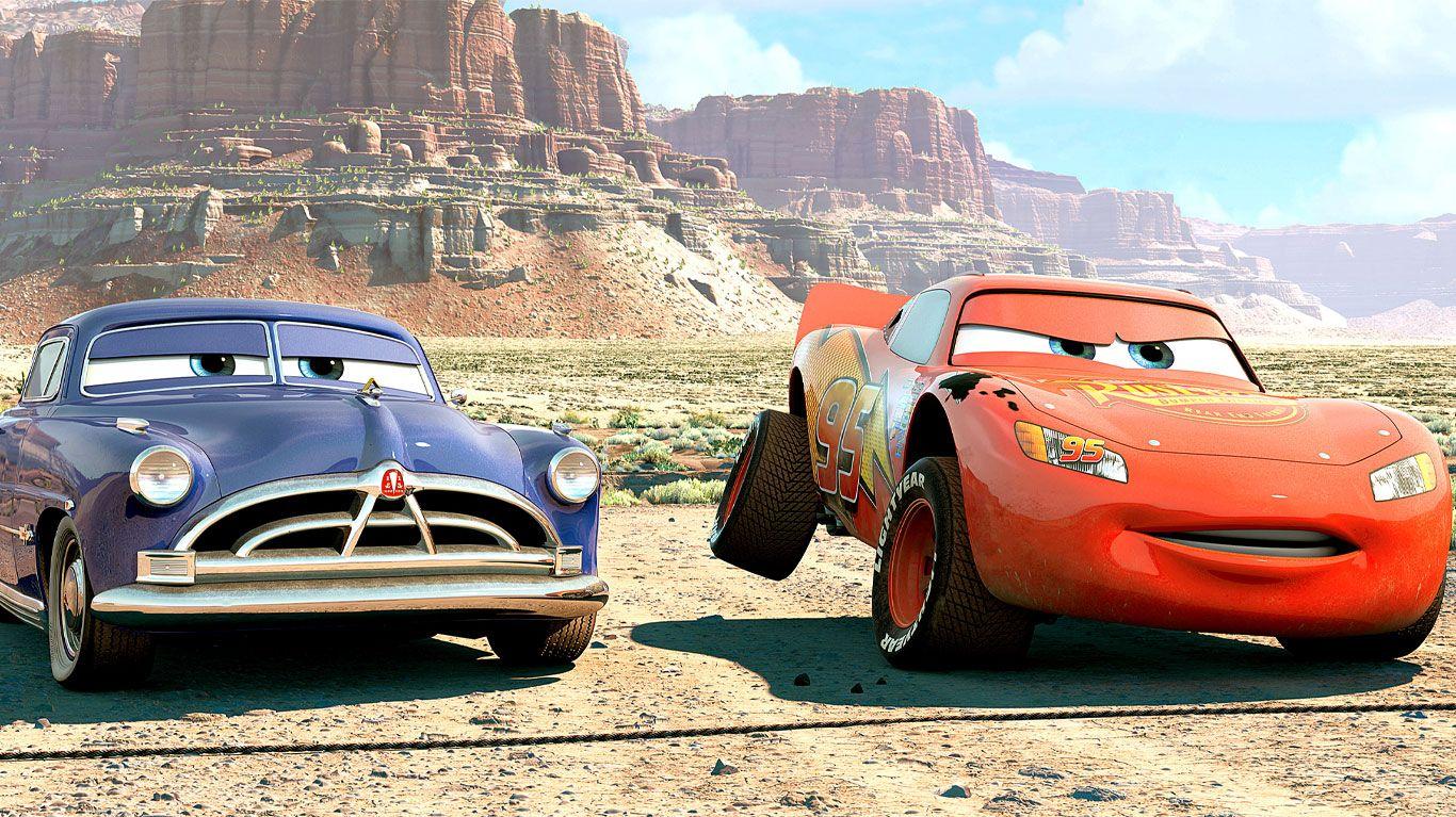 """Doc Hudson, Lightning McQueen in """"Cars."""""""