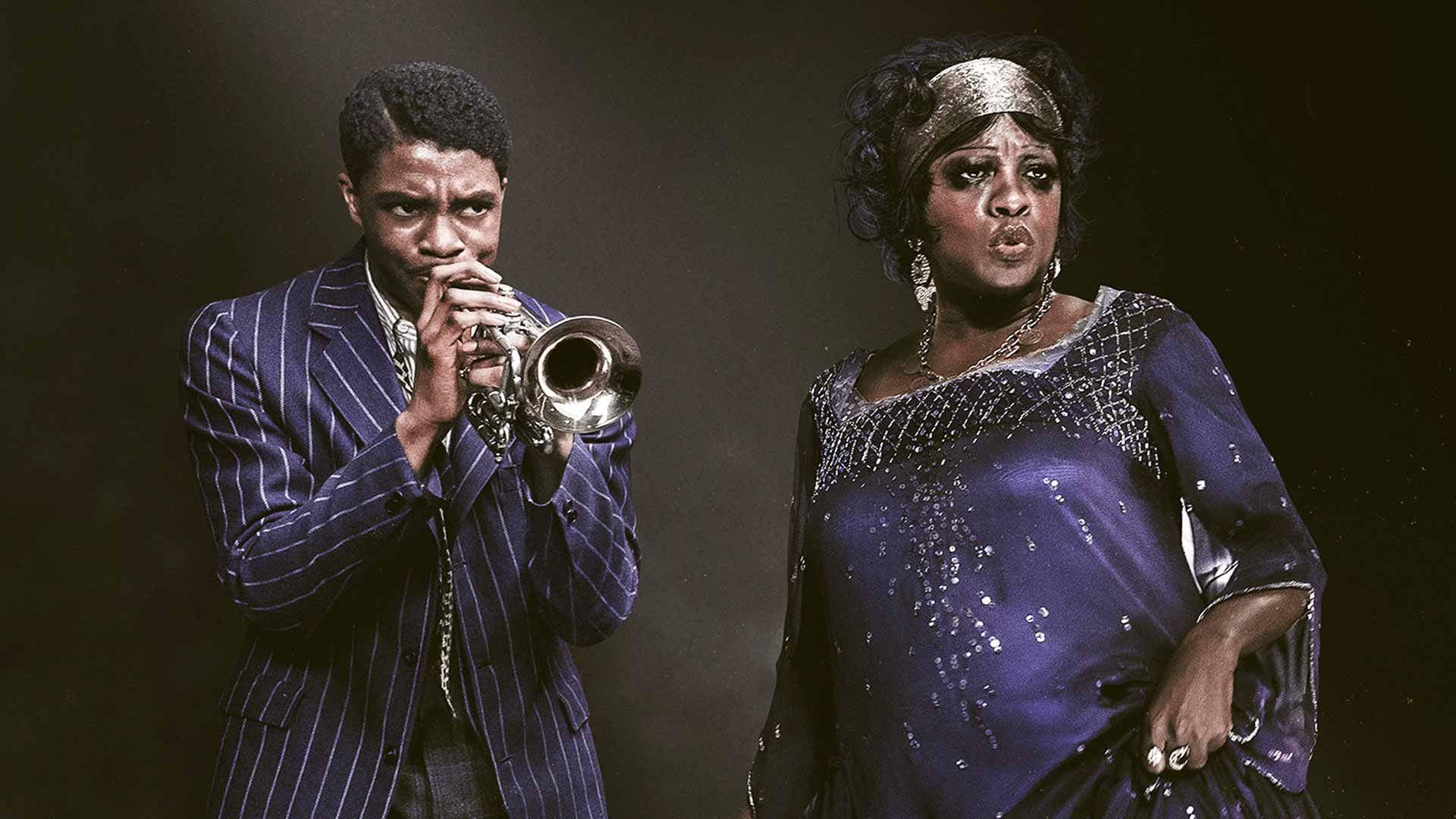 "Chadwick Boseman and Viola Davis in ""Ma Rainey's Black Bottom."""