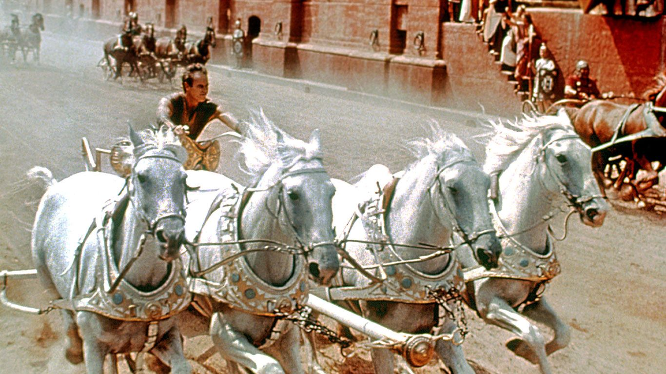 "Charlton Heston in ""Ben-Hur."""