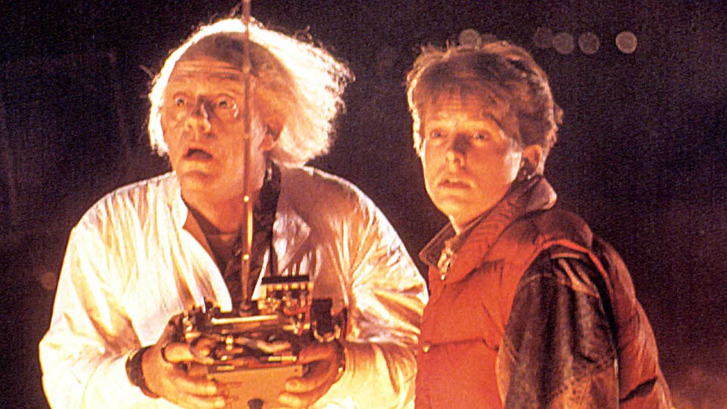 """Christopher Lloyd and Michael J. Fox in """"Back to the Future."""""""