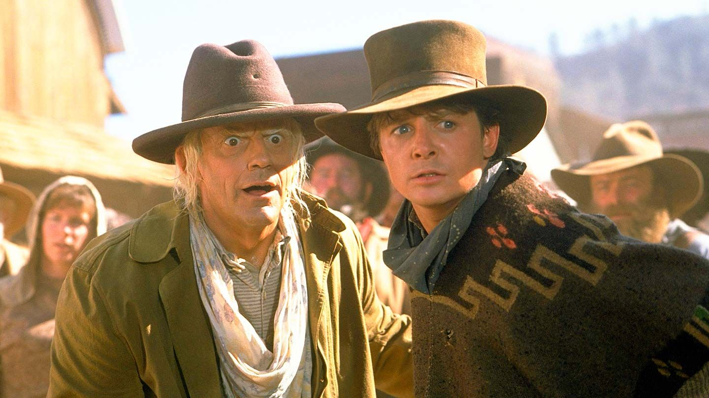 """Christopher Lloyd and Michael J. Fox in """"Back to the Future Part III."""""""