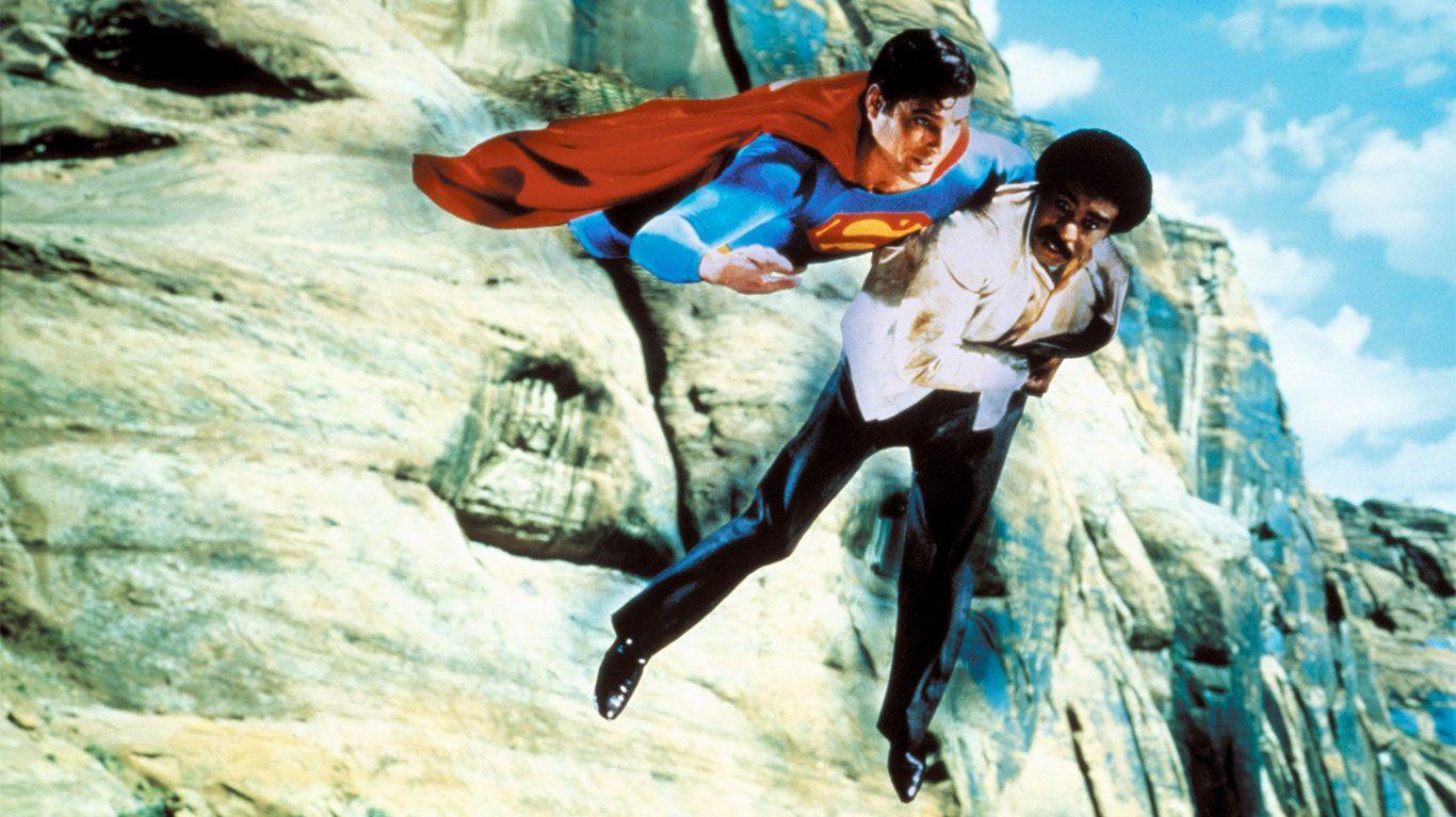 "Christopher Reeve, Richard Pryor in ""Superman III."""