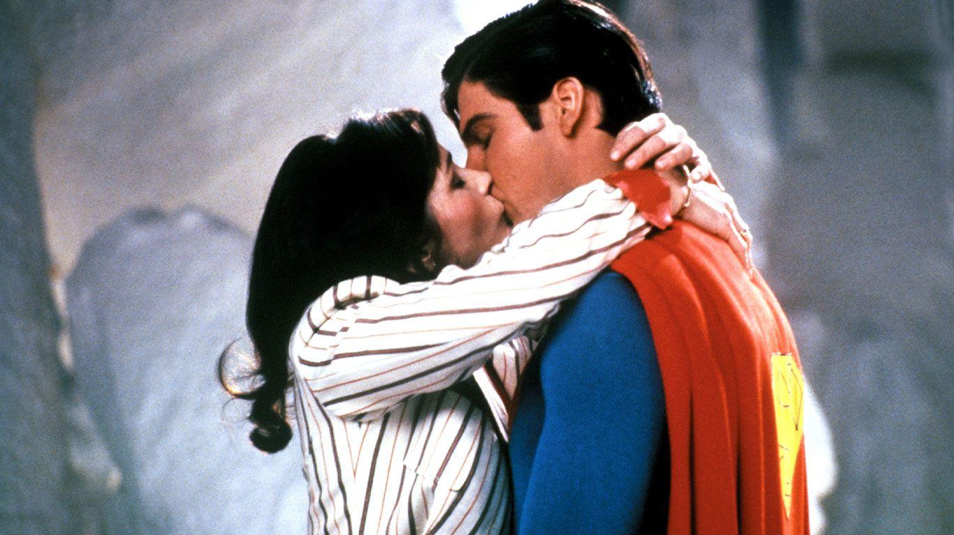 "Margot Kidder, Christopher Reeve in ""Superman II."""