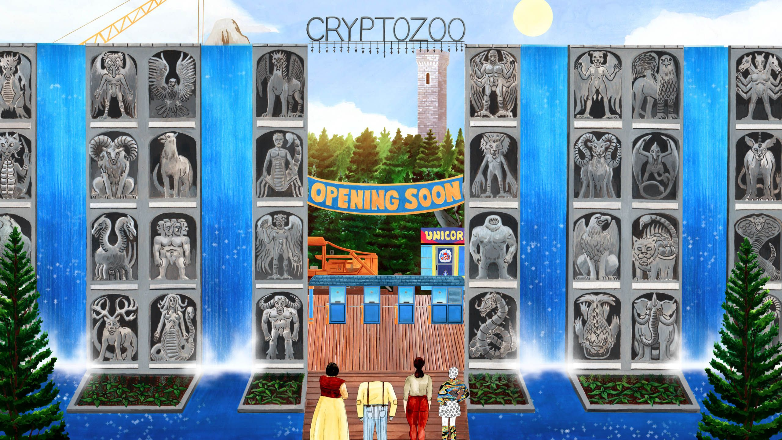 """A scene from """"Cryptozoo"""" by Dash Shaw."""