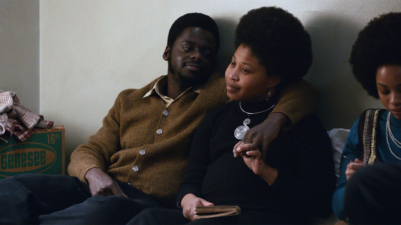 """Daniel Kaluuya and Dominique Fishback in """"Judas and the Black Messiah."""""""