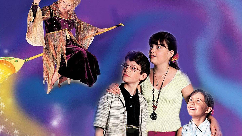 """Debbie Reynolds, Joey Zimmerman, Kimberly J. Brown, and Emily Roeske in """"Halloweentown."""""""