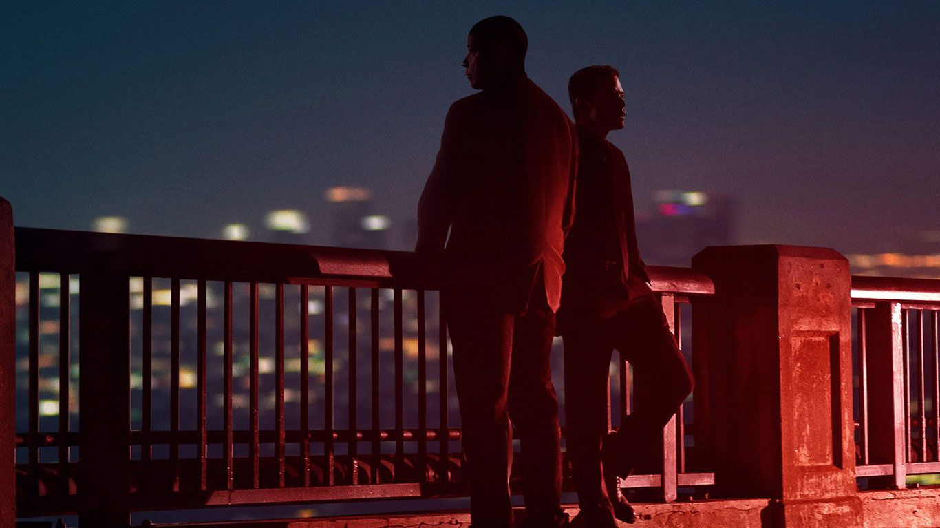 """Denzel Washington, Rami Malek on the poster for """"The Little Things."""""""