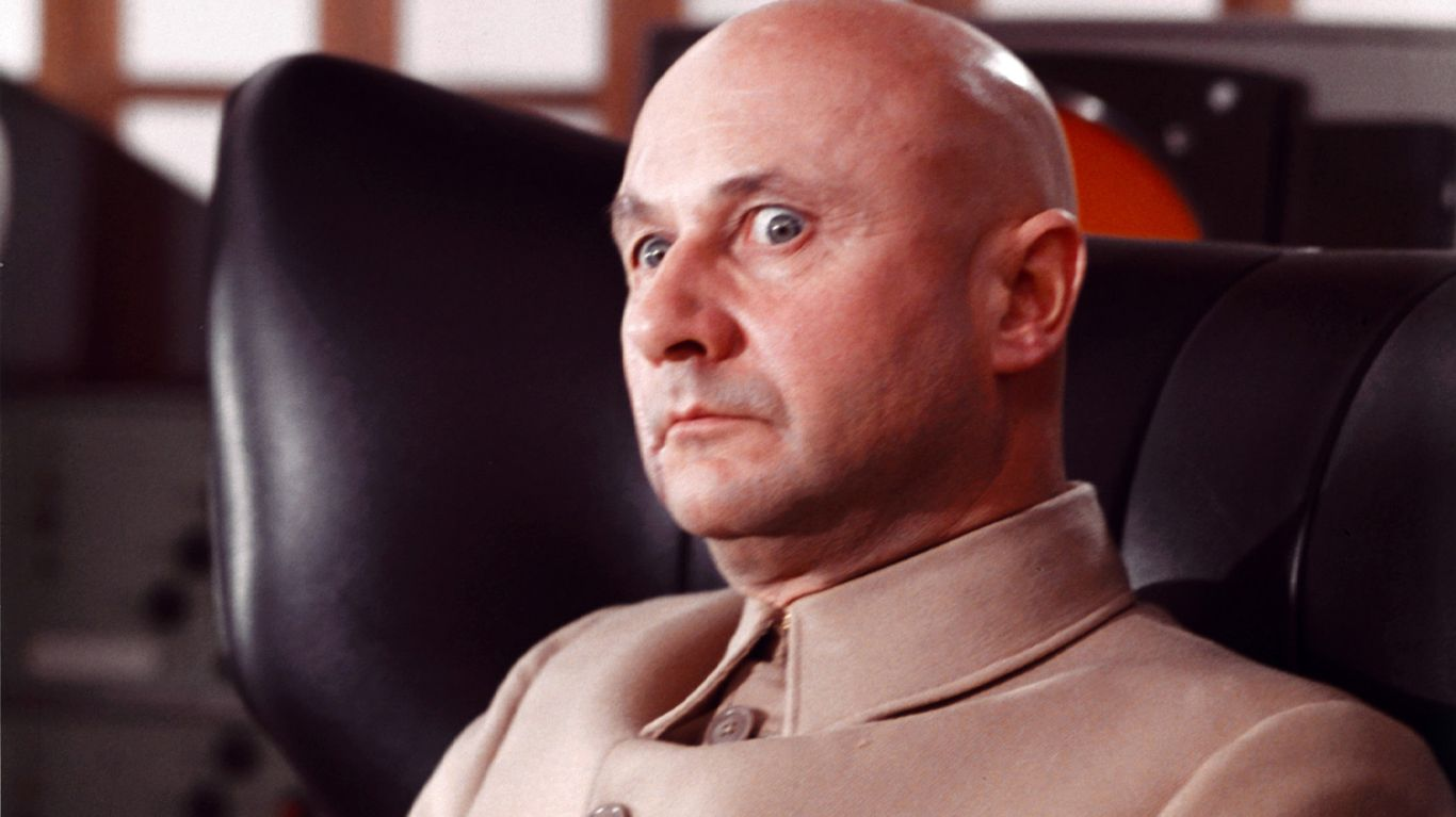 """Donald Pleasence in """"You Only Live Twice."""""""
