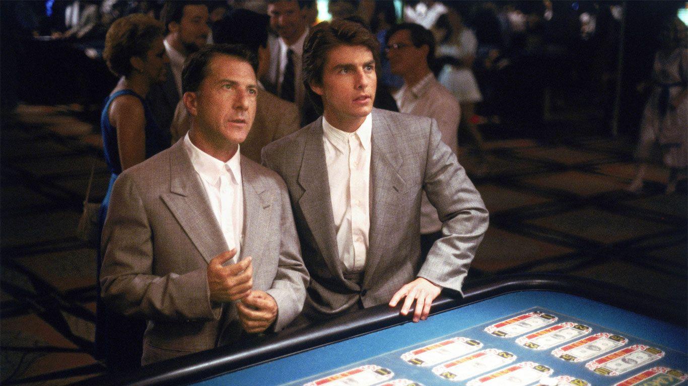 "Dustin Hoffman and Tom Cruise in ""Rain Man."""