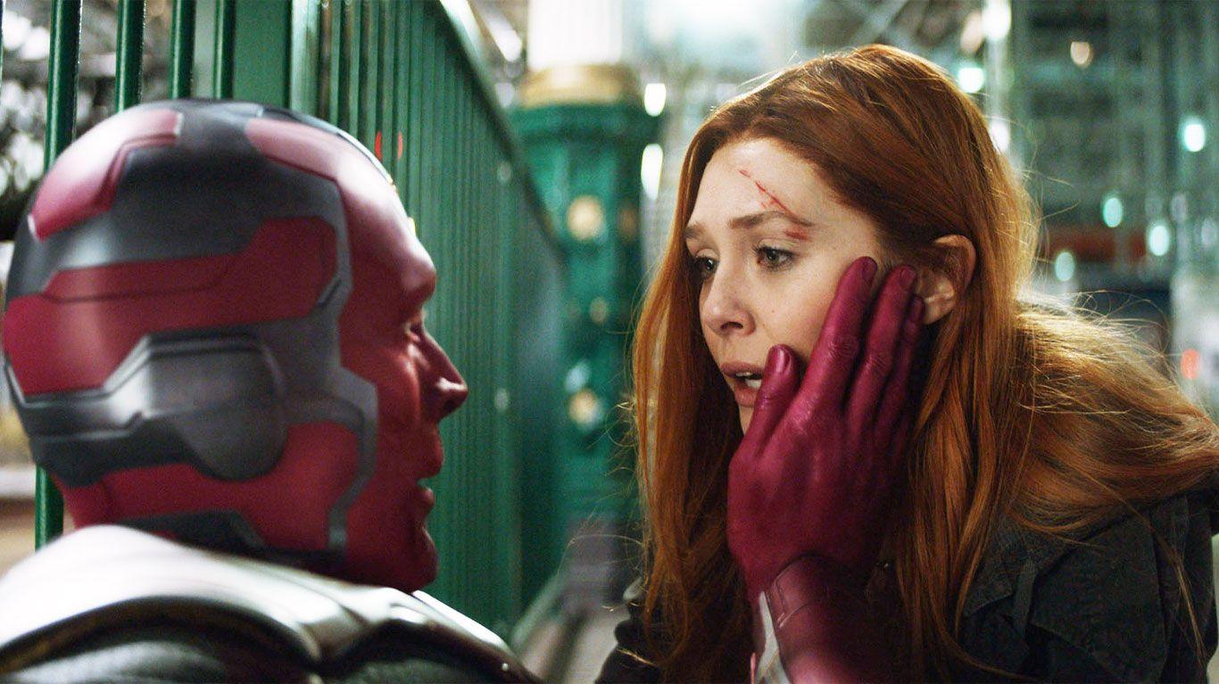 """Paul Bettany and Elizabeth Olsen in """"Avengers: Infinity War."""""""