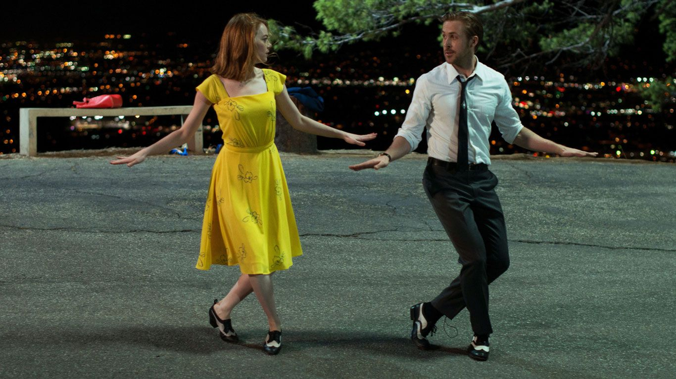 "Emma Stone in Ryan Gosling ""La La Land."""