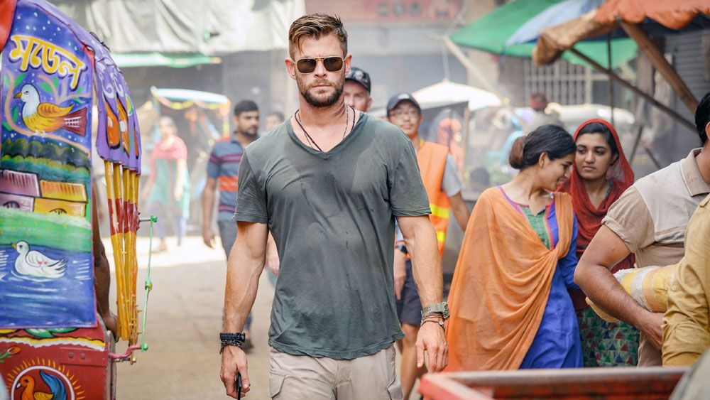 "Chris Hemsworth in ""Extraction."""